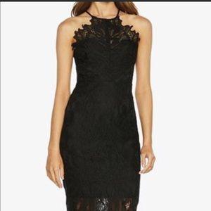 Bardot black lace up back dress US size 4